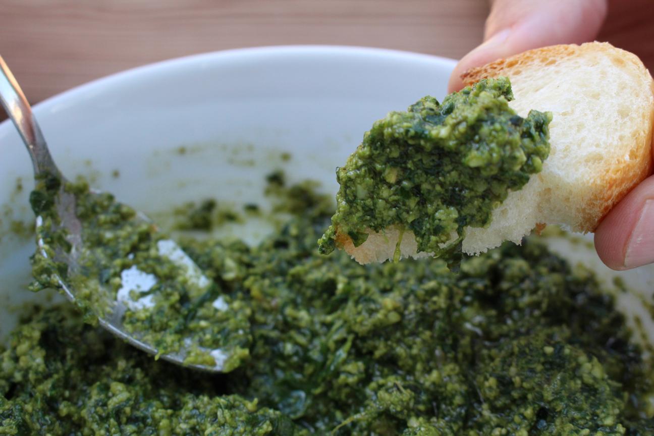 Fresh basil pesto recipe: To process or pestle? That is ...