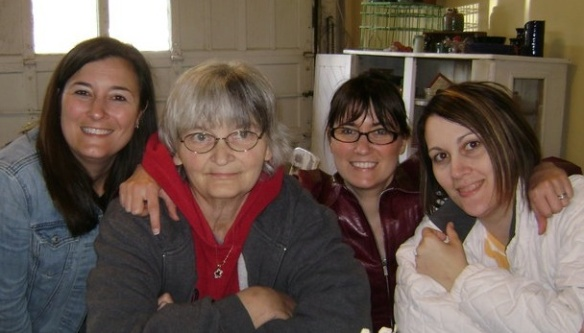 Me (third from left) with my sisters and mother in 20XX.