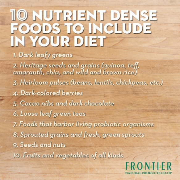 top nutrient dense foods