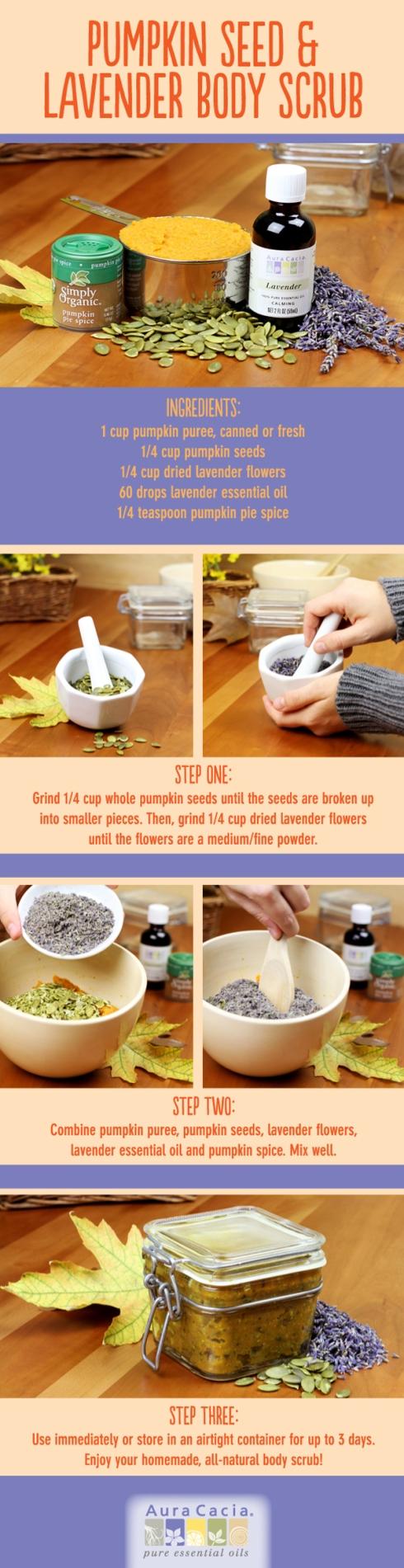 pumpkin seed lavender body scrub