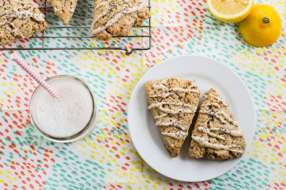 gluten free lemon poppy seed scones
