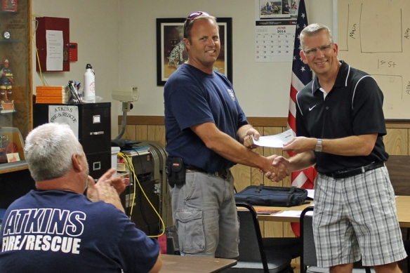 Frontier Co-op Atkins Fire and Rescue donation