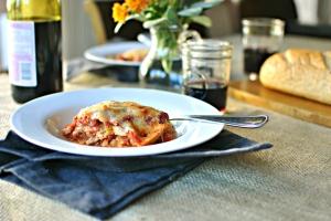 Simply Organic spaghetti squash lasagna recipe